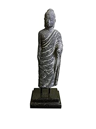 Asian Loft Standing Buddha Statue, Grey