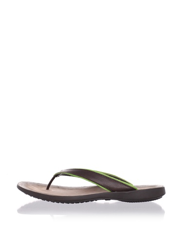 Hogan Men's Bermuda Thong Sandal (Brown/Green)