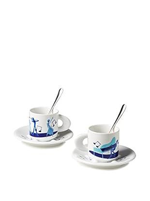 Casa Bugatti Musical 6-Piece Espresso Set