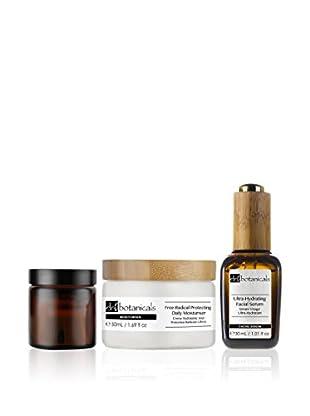 Dr Botanicals Set Hydrating 3 tlg. Set Ultra-Hydrating Facial Serum + Free-Radical Protecting Daily Moisturiser + Advanced Bio-Brightening Eye Cream