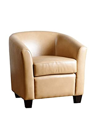 Abbyson Living Tanner Leather Armchair, Camel
