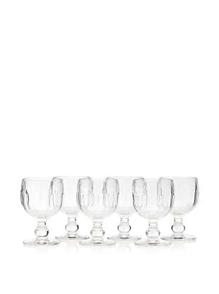 La Rochère Set of 6 Couteau Décor 10-Oz. Water Glasses