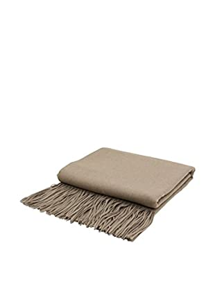 PÜR Cashmere Signature Blend Throw, Lite Grey