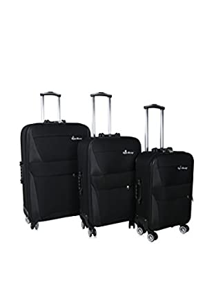 English Laundry 3-Piece Softside Spinner Upright Trolley Luggage Set