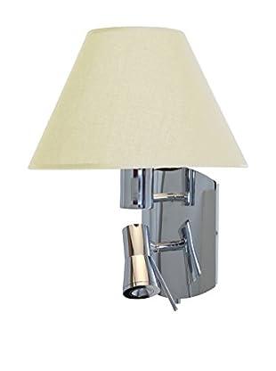 Access Lighting Cyprus 2-Light Wall Sconce, Chrome/Crème