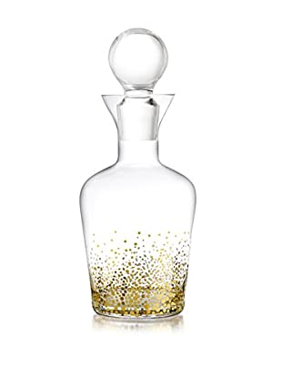 Jay Imports Daphne Gold Luster Decanter, Clear/Gold, 32-Oz.