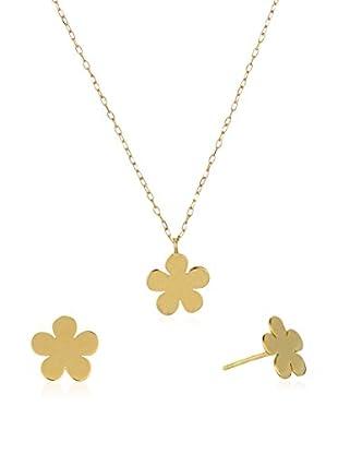 GOLD & DIAMONDS Set Kette, Anhänger und Ohrringe  18 Karat (750) Gelbgold