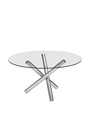 Zuo Stant Round Dining Table, Chrome
