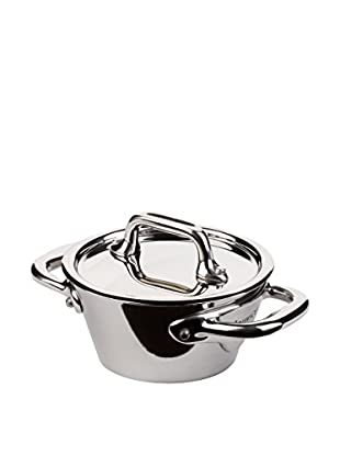 Mauviel M'cook .4-Qt. Mini Splayed Cocotte with Lid & Cast Stainless Steel Handles