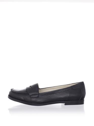 Adrienne Vittadini Women's Mitch Slip-On Loafer (Black Calf)