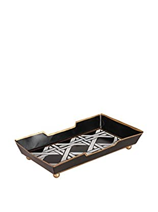Jayes Cane Guest Towel Tray, Black