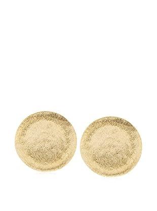 Rivka Friedman 18K Gold Clad Concave Pebble Design Post Earrings