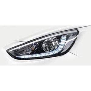 Chrome Garnish Fog Lamp Cover With LED DRL Light Hyundai Verna Fluidic