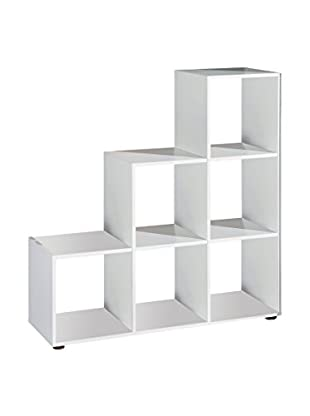 13casa Librería Capri A5 Blanco 109 x 104,5 x 33