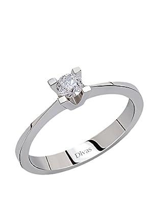 Divas Diamond Anillo 0,20 ct Gold Diamond Solitaire (Plateado)