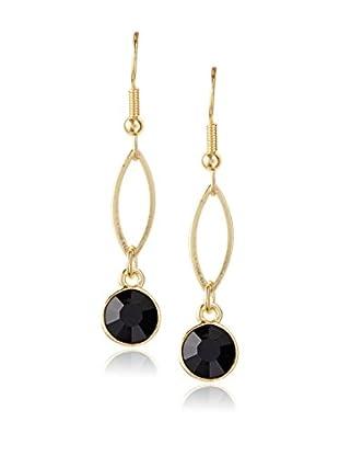 Karine Sultan Jewelry Black Rhinestone Drop Earrings