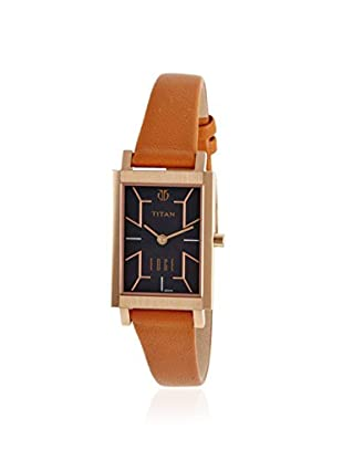 Titan Women's TN2516WL02 Brown/Mother of Pearl Stainless Steel Watch