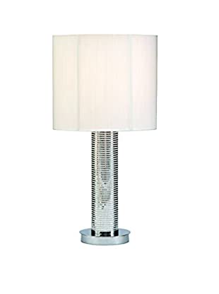 Table Lamp, Silver/White