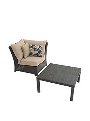 RST Brands Deco Corner Chair & Table Set, Beige