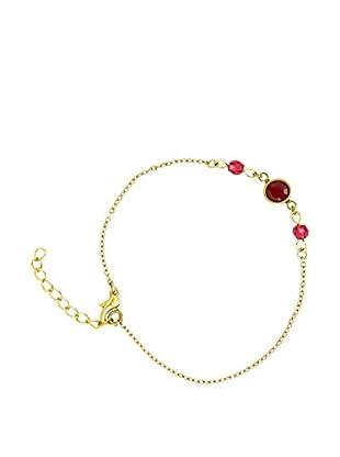 Shiny Cristal Armband  vergoldetes Metall 24 kt