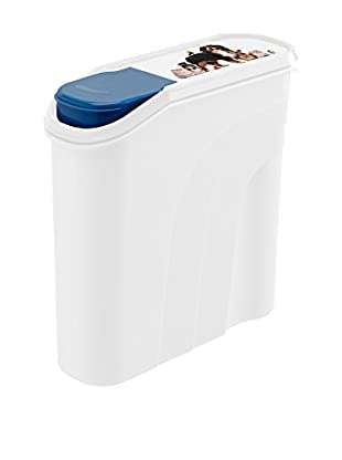 Rotho Behälter für Haustierfutter 4er Set 4.1 L weiß/blau
