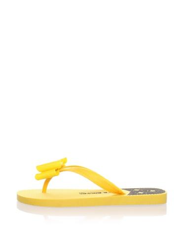 Jack Rogers Women's Ibiza Bow Flip Flop (Yellow)