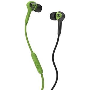 Skullcandy S2SBFY-129 Smokin Buds In-Ear Headphone with Mic (Black/Lurker Green)
