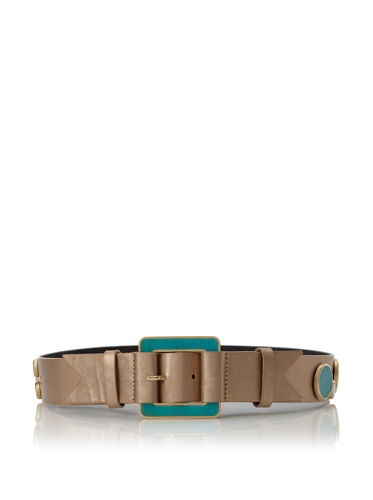 Meredith Wendell Women's Glass Circles Belt (Bright Gold)