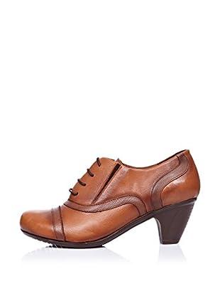 Ziya Zapatos Oxford Puntera (Tabaco)