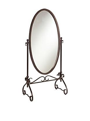 Linon Home Décor Clarisse Metal Mirror, Antique Brown