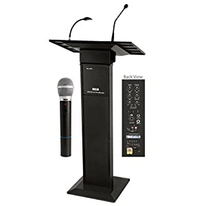 AHUJA PA LECTURN SYSTEM WITH INBUILT SPEAKERS, AMPLIFIER, CORDLESS MIC, PODIUM MIC, USB PORT WSL2500R