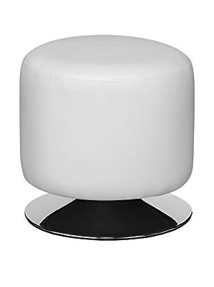 Premier Housewares Hocker Cylinder weiß