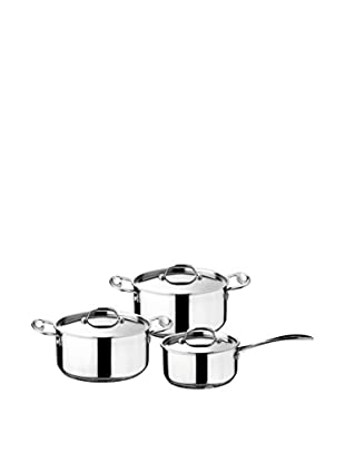Mepra 6-Piece Glamour Stone Kitchen Set, Silver