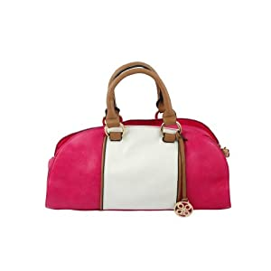 PINK Colour blocking duffle bag - By Dealtz Fashion
