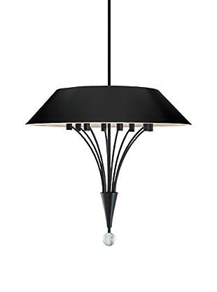 Sonneman Lighting Fontana Pendant, Satin Black/Black