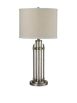Artistic Lighting Table Lamp, Antique Mercury Glass/Brushed Steel