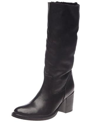 Buffalo London 1002 W 04 COW MONTONE 121925 - Botas de cuero para mujer (Negro)