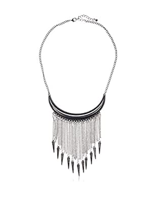 Jules Smith Statement Bear Claw Fringe Necklace