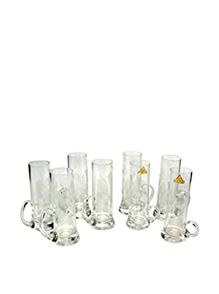 Uptown Down Set of 8 Glasses, Clear