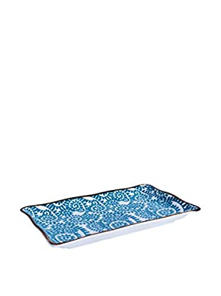 Brunch Time Sushi Teller 6er Set Oriented Branches blau