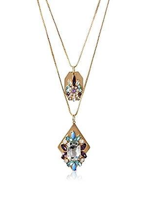 Bijou Double Strand Pendant Crystal Necklace