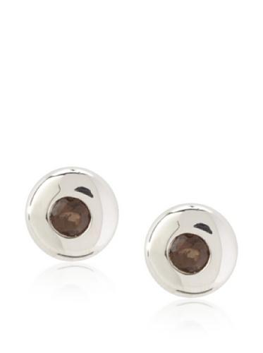 Catherine Angiel Donut Stud Earrings, Silver/Smokey Topaz