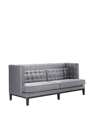 Armen Living Noho Sofa, Silver