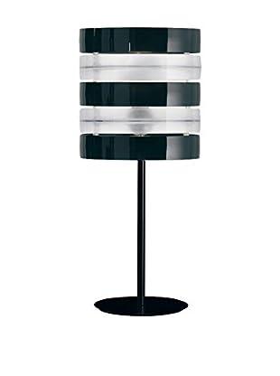 Caimi Tischlampe Ring schwarz/transparent