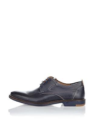 Fretz Men Zapatos Derby Domingo (Azul Oscuro / Cuero)