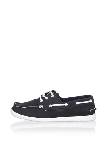Nautica Hyannis Boat Shoe (Toddler/Little Kid/Big Kid) (Black)