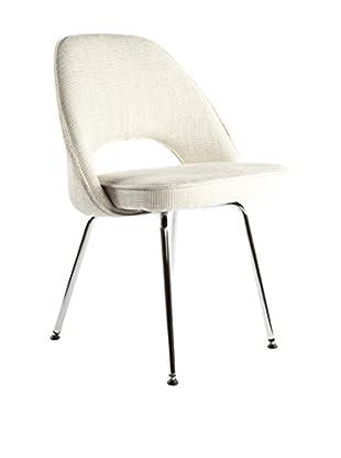 Control Brand The Johnson Side Chair, Beige/Chrome