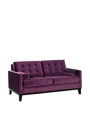 Armen Living Centennial Loveseat, Purple Velvet