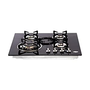 SignoraCare Built -in- Glass Hob 4 Burner (One Kadahi with lid of worth Rs 1690/- free