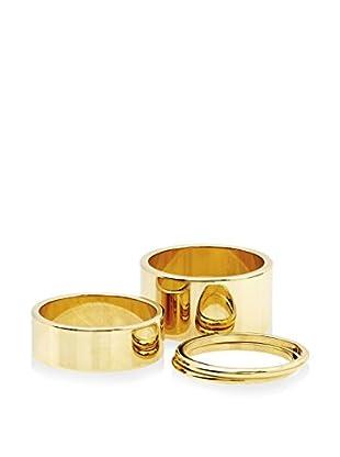 Ecru Metal Four Piece Ring Set